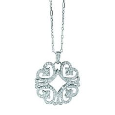 Quatro heart diamond pendant.  This will make her heart melt.  Chad Allison style PD270