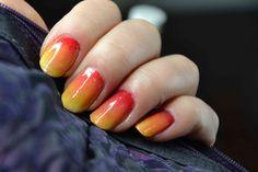 Ombre nails sunshine (Paznokcie cieniowane pędzelkiem) TUTORIAL (+playli...