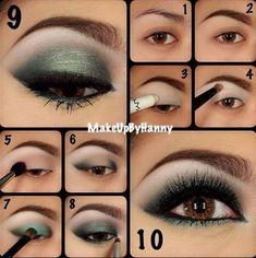 Green Eye Makeup For Brown Eyes - by: Dewi Purnama Sari http://pinterestinglady.com/?p=277
