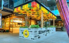 Guzman y Gomez, World Square - Mima Design - Creating Branded Retail + Hospitality Environments Industrial Cafe, Industrial Apartment, Industrial Bedroom, Industrial Windows, Industrial Farmhouse, Industrial Closet, Industrial Bookshelf, White Industrial, Industrial Living