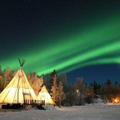 【イエローナイフ、カナダ】美しいオーロラスポットです Yellowknife, Canada- Known as one of the best spots for aurora watching #travel #canada #aurora