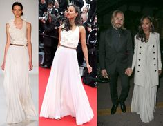 How to wear a Victoria Beckham dress to a Cannes Film Festival Grand Opening, by Zoe Saldana - LaiaMagazine