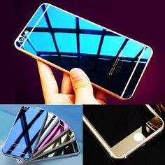 Front+Back Tempered Glass Mirror Effect Color for Iphone 4 4S 5 5S 6 6S Plus