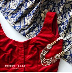 Imperial Blue Brocade Silk Lengha Skirt. Shop now at poppylane.ca