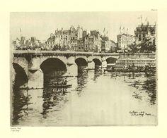 010-Eugène Béjot- puente nuevo | Carnegie Mellon Posner Memo… | Flickr Carnegie Mellon, Vintage Drawing, Abstract, Drawings, Artwork, Painting, Google, Old Paris, Italia