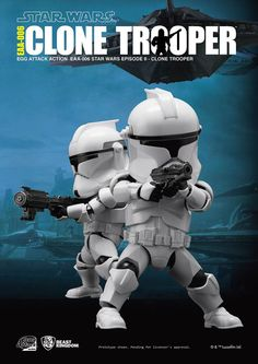 [商品報導] Beast Kingdom EAA-006- #EPII #CloneTrooper 6吋可動人偶 臺灣知名玩具品牌野獸國(Beast Kingdom)公司將在旗下Egg Attack Action 系列推出最新可動公仔作品,繼推出了電影STAR WARS:原力覺醒中多款經典的角色法斯馬隊長、凱羅.忍、第一軍團風暴兵之後,野獸國公司這次將要推出電影星際大戰二部曲:複製人全面進攻(Star Wars Episode II: Attack of the Clones)中出現的:「共和國複製人士兵」(Clone Trooper)。 (完整文章:http://goo.gl/Q0xs7u)