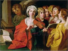 Domenichino.St-cecilia-with-a-choir-