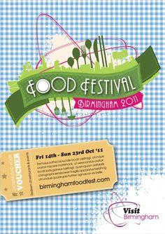 Birmingham Food Festival Poster Teacher Appreciation Luncheon, Food Expo, Birmingham, Voucher, Restaurant Week, Festival Posters, Print Packaging, Food Festival, Feel Good