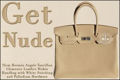 35cm Hermès Argyle Taurillon Clemence Leather Birkin Handbag with Palladium Hardware – Get Nude  - www.createursdeluxe.com