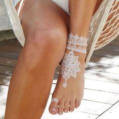 Inspirações de Verão - Tatuagens de Hena Branca