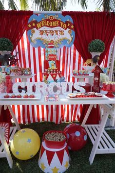 Excellent ideas at this circus birthday party! See more party ideas at CatchMyParty.com!