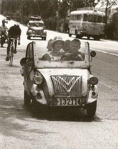 Spain. Biscuter in Castelldefels, Barcelona, 1962 // Photo Xavier Miserachs