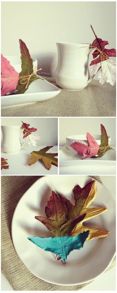 Spruce up your fall decor by painting leaves! #DIY #Craft