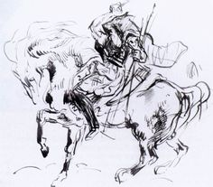 Sketch for Attila by DELACROIX, Eugene
