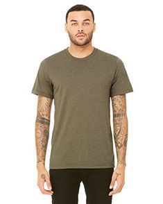 Bella+Canvas  Men/'s Jersey Long Sleeves Plain Smart Slim Fit Casual Wear Tshirts