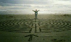 Sand labyrinth