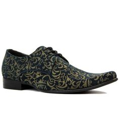 f91825ae475cc Jag Retro Mod 60s laser cut Paisley Winklepicker Shoes Navy Suede from  Madcap England #madcapengland