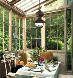 enclosed outdoor rooms | This enclosed patio sunroom features a cooling outdoor rated ceiling ...