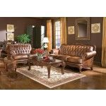 Coaster Furniture - Victoria - Brown Leather Living Room Set-500681  SPECIAL PRICE: $2,538.00