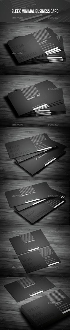 Sleek Minimal Business Card Template PSD. Download here: http://graphicriver.net/item/sleek-minimal-business-card/15265864?ref=ksioks