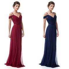 6c4749558d4 Chiffon A-line Don t give me a cold shoulder Long Bridesmaid dress in. Frugal  Mughal