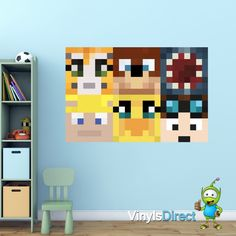 Stampy DanTDM And Friends Heads Wall Sticker