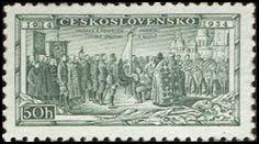 Znaczek: Consecration of Legion Colors at Kiev (Czechosłowacja) (Legionnaires) Mi:CS 322,Sn:CS 195,Yt:CS 285,AFA:CS 186,POF:CS 276