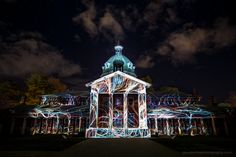 Court House Swirls Bathurst, NSW, Australia  Well, this was by far my favorite Illuminate projection yet. I made it down mid week and got this snap without the crowd. I also took a bunch of other photos that I have added to the blog post. It's all over now. Looking forward to the next one.  http://www.davidromaphotography.com/blog/2015/7/illuminate-bathurst-winter-festival  ------------- #bathurst #bathurst200 #bathurstphotographer #carillion #centralnswtourism #centralwest #clouds #cour...