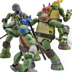 Revoltech Leonardo Raphael Donatello Michelangelo Set of 4 Anime Figure Japan Now available at Figure Central (^o^)
