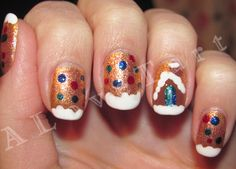 Gingerbread House manicure