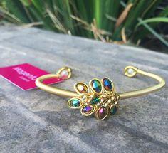 Nuevas pulseras ajustables hechas a mano con perlas, cristales y chapa de oro de 22k!