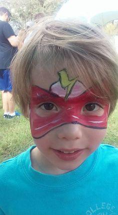 #flashfacepaint #superherofacepaint #funfacesballooncreationsfacepaint Flash Face Paint, Superhero Face Painting, Carnival, Carnavals