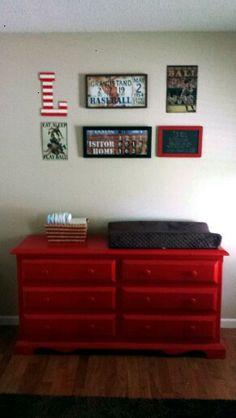 My baby boy's room :) baseball themed
