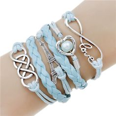 Double Leather Charm Bracelets Christmas Gifts Under $20