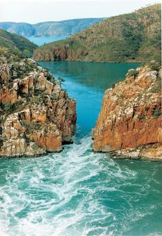 There are two horizontal waterfalls in Western Australia and both can be found in Talbot Bay in the Buccaneer Archipelago in Australia's North West. The white waters are thrilling to ride by boat and awe-inspiring to view from the air. Join a scenic . Oh The Places You'll Go, Places To Travel, Places To Visit, Western Australia, Australia Travel, Australia Occidental, Beautiful World, Beautiful Places, Tasmania