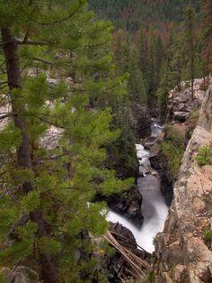 Adams Falls - Grand Lake, Colorado - Romantic trip, a very long time ago.