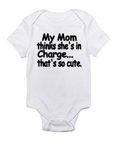 Which came first: the cozy bodysuit or the hilarious graphic? Either way, this baby basic has some serious comedic value and unrivaled convenience thanks to the handy lap neck and quick snaps on bottom.