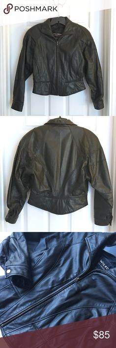 Wilsons Leather Jacket, Size Small Beautiful Wilsons Genuine Leather Bomber Jacket. Size Small. EUC! Dry Clean Only. Can pair with my Wilsons leather skirt! See other listing or inquire. Wilsons Leather Jackets & Coats
