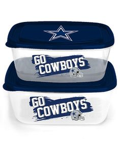Dallas Cowboys 4-Pc Jumbo Food Storage Containers - Officially Licensed #ForeverCollectables #josam1129 #DallasCowboys #NFLJumboFoodStorage #CowboysFoodContainers - Officially Licensed