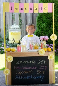 A cute and easy lemonade stand