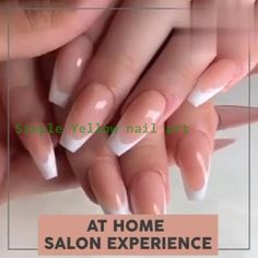 - Best ideas for decoration and makeup - Diy Yellow Nails, Yellow Nails Design, Nail Art At Home, Fashion Corner, Design Tutorials, Design Ideas, Nail Art Hacks, Nail Arts, Nail Art Designs