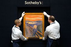"""""""The Scream"""" by Edvard Munch just sold at Sotheby's, NY for 119 million USD - MOST EXPENSIVE piece of art at auction ever"""