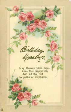 BIRTHDAY GREETINGS  roses