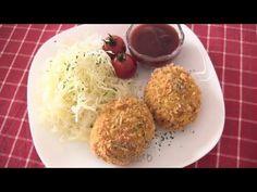 How to Make Japanese Korokke (Croquette) Recipe コロッケの作り方 レシピ - ochikeron Asian Recipes, New Recipes, Ethnic Recipes, Croquettes Recipe, Potato Croquettes, Tapas, Tonkatsu Sauce, Eat Happy, Japanese Food