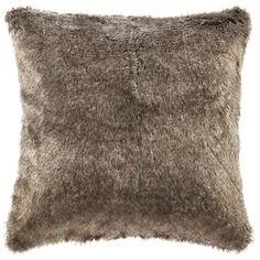 Eddie Bauer Lodge Fur decorative pillow features heritage Eddie Bauer lattice knit pattern on the reverse side.  This pillow is the perfect accent to update your room this Fall season.
