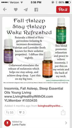 Young Living Essential oils for sleep