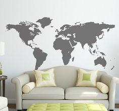 Naklejka kontury świata