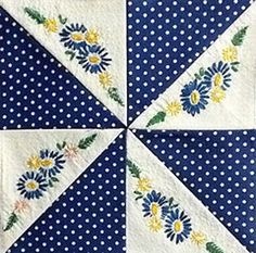 Using vintage embroidery in piecework. Civil War Quilts: What's Up?