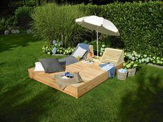 """Gartenliege """"Sonnendeck"""" Hier geht's zur Anleitung: http://www.toom-baumarkt.de/selbermachen/selbstbauideen/gartenliege-sonnendeck/ #toom #Baumarkt #toomBaumarkt #toomTeam #Heimwerken #DIY"""