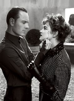Michael Fassbender and Model Natalia Vodianova Photographed by Craig McDean for the May Issue of Vogue